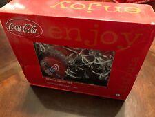 COKE Coca-Cola String Light Set Coke Bottles / Button Lights