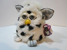 Furby G1 Battery Operated Toy WHITE with Black Dots EXCELLENT Condition No Leak