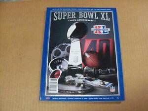 Bill Cowher, Pgh Steelers, Signed Super Bowl XL Program, Clean
