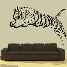 Wall Decal Vinyl Sticker 3D Tiger Lion Leopard Panter Animals Jumping  r709
