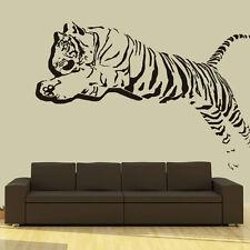 Wall Decal Vinyl Sticker 3D Tiger Lion Leopard Panter Animals Jumping  r709
