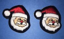 2 Lot Vintage Christmas Santa Claus Hipster Jacket Voyager Patches Crests