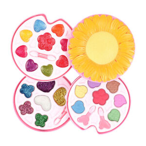 Sunflower Shape Makeup Kit for Girls, Cosmetics Beauty Set Role Play Toys