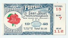 1948 Michigan Rose Bowl football ticket stub National Champions Crisler