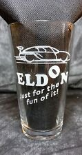 Laser Engraved Slot Car Designs PINT Drinking/Bar glass - ELDON