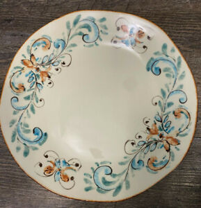 """1 Pier 1 Imports Handcrafted Italy Terracina Ivory Cream Color 11"""" Dinner Plate"""