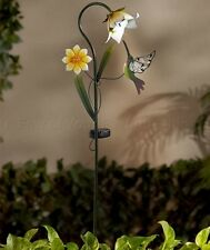 HUMMINGBIRD SOLAR LIGHT FLOWER BED GARDEN STAKE YARD LAWN PORCH OUTDOOR DECOR