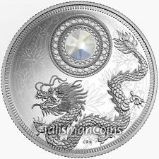 Canada 2016 Dragon Birthstones June Pearl $5 Silver Proof with Swarovski Crystal