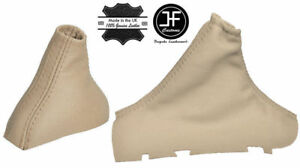 BEIGE LEATHER AUTOMATIC SHIFT BOOT E BRAKE BOOT SET FITS VOLVO S80 98-06