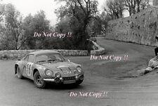 Jean-Claude Andruet Alpine-Renault A110 1800 Monte Carlo Rally 1973 Photograph 5