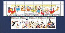 GUYANA DISNEY - Scott 2470-2487 - VFMNH S/S - Christmas Cards - six scans