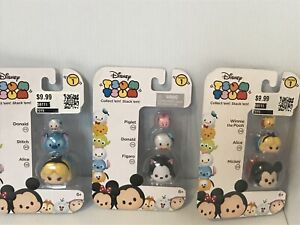 Disney Tsum Tsum Mini Figures 3 Pack Series 1 NEW Lot of 3 Packs 9 Total