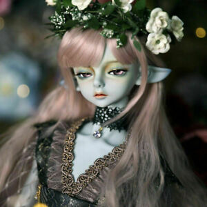 1/4 BJD Doll Elves Boy Girl Jointed Body Eyes Face Makeup Wigs Clothes Toy Gift