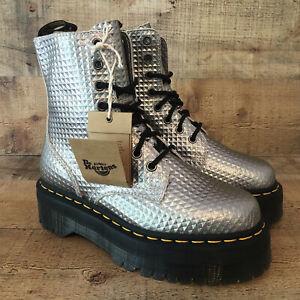 NEW Doc Martens Jadon Silver Studded Platform Boots DR Women's 6 / Men's 5