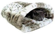 Trixie Kuschelsack Leika  25 × 27 × 45 cm  weiß braun Chihuahua Katze Welpe