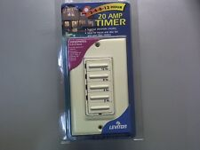 Leviton 6212H-A  2, 4, 8, or 12 Hour Countdown Timer Almond New