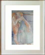 ODINE ROLANDO (1933-2020) // SUPERBE SCENE ANIMEE FEMME DANS LE FAUTEUIL (22)