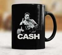 Johnny Cash Finger Salutes Coffee Mug Best Gift For Friends & Family