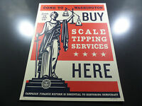 Shepard Fairey - Scale Tipping - Obey Giant - S/N - 2014 - Rare - Political Art
