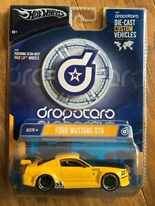 HOT WHEELS DROPSTARS FORD MUSTANG GTR Yellow 1:50 Scale