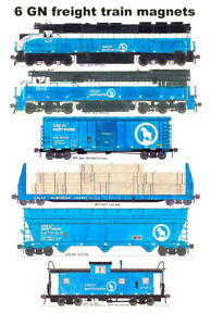 Great Northern Blue Freight Train 6 magnets Andy Fletcher
