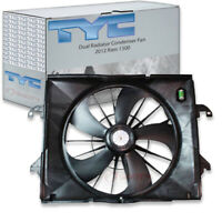 TYC Dual Radiator and Condenser Fan Assembly for 2012 Ram 1500 3.7L V6 gz