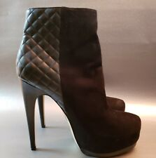 73c2b72f6559 Truth or Dare Womens Booties Boots Black Suede Madonna Quilted Platform 10