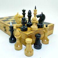 Soviet Grossmeister Wood Chess Set Russian Vintage USSR Antique Tournament 30х30