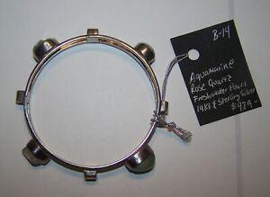 Lilly Barrack Bracelet 14k Gold, Sterling Silver, Rose Quartz, Pearl, Aquamarine