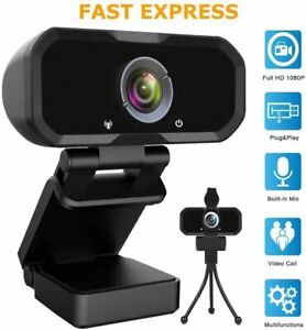 1080P HD Webcam for Video Conferencing 110 Degree View Live Streaming Stereo Mic