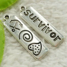 44 pieces tibet silver survivor charms 35x10mm #4657 free ship