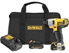 "DeWalt #DCF815S2: 12v MAX 1/4"" Impact Driver Kit w/ 2-Batteries."