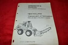 New Holland Trencher Attachment For L-35 L-775 Skid Steer Operator' Manual HMPA