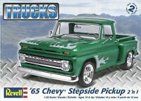 Revell 1965 Chevy Stepside Pickup 2'n1 1:25 scale model car kit new 7210