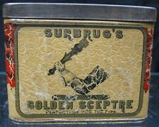 Vintage 1900's Tobacco Tin~Surbrug's Golden Sceptre