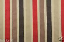 12.mts. SOFT RED BROWN STRIPED SANDERSON & MORRIS CURTAIN UPHOLSTERY FABRIC