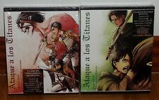 ATAQUE A LOS TITANES ED.COLECCIONISTA 1ª Y 2ª PARTE 2 BLU-RAY+2 DVD+LIBROS NUEVO