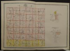 Ohio Clark County Map Pike Township 1894  Double Page  R5#47