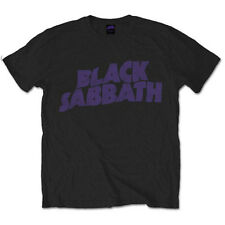 Black Sabbath Wavy Logo Ozzy Osbourne Paranoid Ironman Rock Official Mens Tshirt
