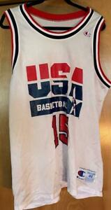MAGIC JOHNSON DREAM TEAM USA BASKETBALL AUTHENTIC CHAMPION SIZE 48 JERSEY
