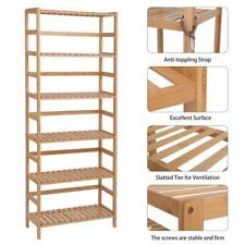 6 Layer Bamboo Shelf Shelving Bookshelf Adjustable Storage for Bedroom Organizer