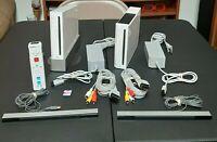 Nintendo Wii Console RVL-001 Lot Of 2 White Bundle Please Read Description