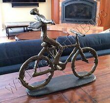 Bicycle Sculpture Cyclist Bike Metal Statue Art Tour De France Modern