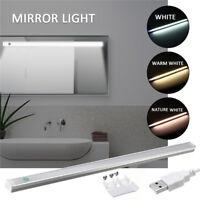 Dimmbar 30 LED Spiegelleuchte Schranklampe Schminklicht Badleuchte USB Ladegerät