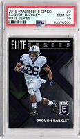 2018 Panini Elite DP Elite Series #2 Saquon Barkley PSA 10 GEM MINT ROOKIE