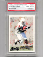 1999 Pacific Paramount Ricky Williams Rookie Card PSA 10 GEM MINT!! SAINTS RB!!