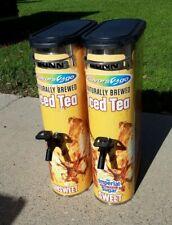 Lot of 2 Bunn Restaurant Iced Tea Dispensers Stainless Steel 3.5 GAL