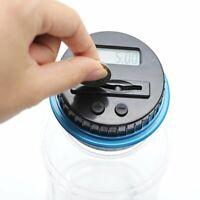 LCD Electronic Digital Counting Coin Bank Money Saving Box Jar Counter Bank#^