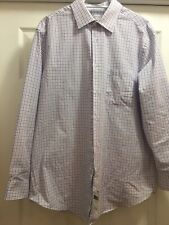 ARROW Dress Shirt Slim/Athletic  Fit Purple /White 16-16.5 - 32 /32 New