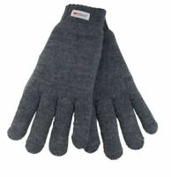 Mens Thinsulate 3M Thermal Gloves Fleece Lined Grey one size